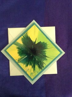 50 shades of green spin art cards on Etsy, $5.00