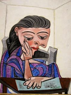 Pablo Picasso (1881-1973). Girl Reading painting (1938) at Detroit Institute of Arts. Detroit, MI.