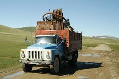 Nowadays the Kyrgyz nomads transport their yurts via trucks not animals