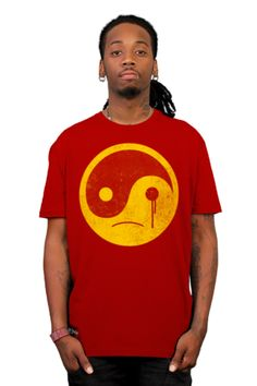 sad yin yang T-shirt by kharmazero from Design By Humans.