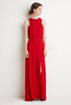 b641472245bd Contemporary Front-Slit Maxi Dress