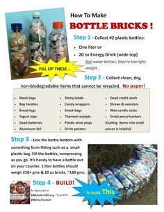 Perfect upcycling:getting to zero waste creating & building with bottle bricks filled with inorganic, unrecyclable waste!