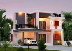 Charming Modern House Front Designs Pictures Gallery