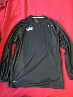 c12b9cf95cd Mens Black Long Sleeve L Nike Dri-Fit 2013 Big 10 Championship Limited  Edition