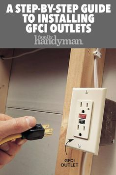 A Step-by-Step Guide to Installing GFCI Outlets - Electrical Repair and Wiring - Electrical Work, Electrical Projects, Electrical Outlets, Electrical Engineering, Gfci Plug, Diy Projects Cans, House Projects, Home Buying Tips, Diy Home Repair