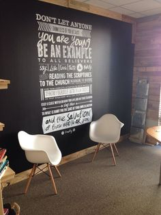 Scripture Wall For Youth Room