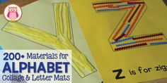 Creating a letter collage or using letter mats are great alphabet activities to reinforce letter-sound associations with children in preschool and pre-k.
