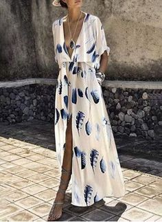 Maxi Dresses - Fashion Short Sleeves Floral Print Maxi Dress Source by - Vestido Maxi Floral, Vestido Casual, Floral Print Maxi Dress, Chiffon Maxi, Print Maxi Dresses, Blue Maxi Dresses, Dresses Dresses, Floral Dresses, Fall Dresses