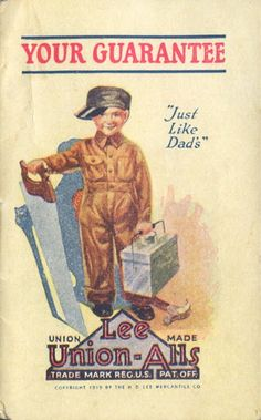 Lee Union-All AD Booklet (Cover), Late1920's