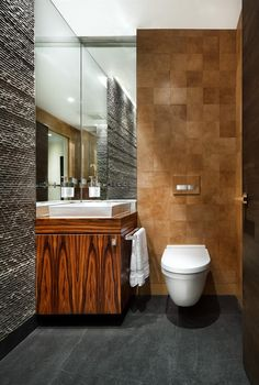Powder Rooms with Flare: Wood and Tile
