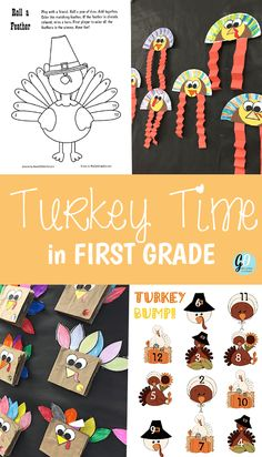 Lots of FREE Thanksgiving Activities for First Grade