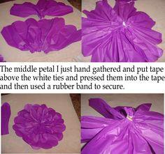 Designs by Laura & Vintage Finds: DIY - Large Tissue Paper Flower