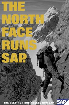 SAP has been running a marketing campaign that highlights which large, successful companies use their software. It communicates that this big and successful company runs SAP, you should too. It also gets to use the credibility of their clients to promote their business, and I think this marketing approach is brilliant. Software, Marketing Approach, Advertising, Ads, Over The Years, The North Face, Technology, Running, Business