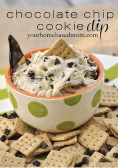 Chocolate Chip Cookie Dip – Perfectly paired with graham crackers, this delicious recipe is great for a party or graduation!
