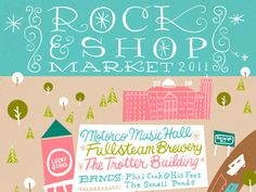 hand lettering & poster by This Paper Ship for The Rock & Shop Market