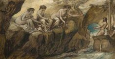 Calvert, Edward, (1799-1883), Ulysses and the Sirens, 1850, Oil