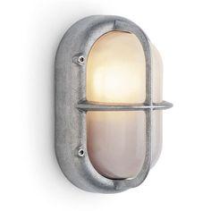 Industriele wandlamp aluminium mat, 70 euro