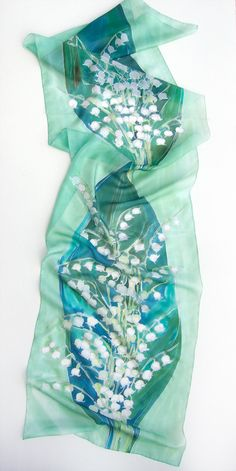 Silk Scarf Lily of The Valley/ Hand painted scarf/ Denim blue shawl/ Spring floral scarf handpainted. Luxury scarf/ Birthday gifts for her Silk Scarf Lily of The Valley Hand painted scarf scarf Denim blue shawl scarf scarf Spring floral scarf scarf handpainted Luxury scarf Silk painting Klara painted scarves blue handpainted silk 80.00 USD #goriani