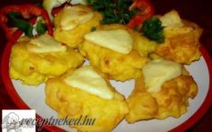Királyné sajtos-tojásos burgonyája recept fotóval Hungarian Recipes, Potato Recipes, Cauliflower, Side Dishes, Salads, Sandwiches, Muffin, Goodies, Potatoes