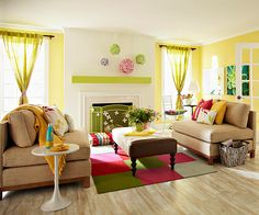 Quick living room changes to take you into Spring.  (Goodby winter!)