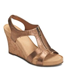 d45538580e1e A2 by Aerosoles Bronze Dream Plush Wedge Sandal. Wedge SandalsPlush WedgesWedge ...