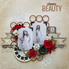 #papercraft #scrapbooking #layout: layout by Stacy Cohen