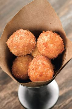 Citrus Arancine with Pecorino Cheese--serve them in cones of brown paper for easy presentation