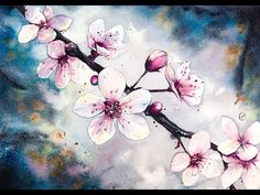Watercolor Cherry Blossom Flowers Watercolor Painting Tutorial - YouTube