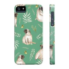 Our leafy pug design is a unique watercolor pattern featuring an adorable pug, butterflies and tropical leafs. Not only will this case provide your phone with s