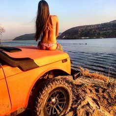 lada niva and girl More