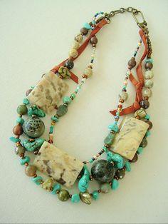 Boho Southwest Necklace Cowgirl Jewelry Turquoise by BohoStyleMe