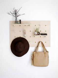 hat rack wall ideas