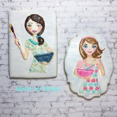 A couple more of my Cookie Ladies🍪#sugarcookies #cookieart #sugarart #edibleart #icing #royalicing #royalicingcookies #cookiesofinstagram #sydneycookies #cookielove #customcookies #customdecoratedcookies #decoratedcookies #decoratedsugarcookies #royalicingcookiersaustralia #handpainted #handpaintedcookies #practicecookies  #homemade #homemadecookies #madeinsydney #madewithlove #madebymaits