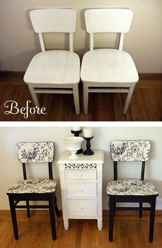 adorable ideas for chairs! (there is no instructions to click on and open.....just the image) - Bing Images