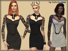 Dress with collar by bukovka at TSR • Sims 4 Updates