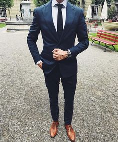 Groomsmen suits, navy blue suit, blue mens suit wedding, navy suit groom, r Blue Suit Men, Royal Blue Suit, Blue Suits, Blue Mens Suit Wedding, Men In Navy Suits, Suit For Men, Wedding Navy, Navy Blue Suit, Chic Outfits