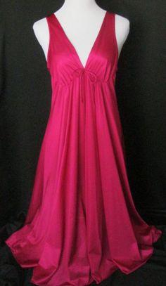 630424de03a5 Long Nightgown CINEMA ETOILE Lg Raspberry Red Lingerie