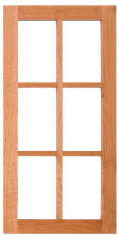 Bellmont Cabinets - Style B Wood Frame for Glass Option - Glass Not Included