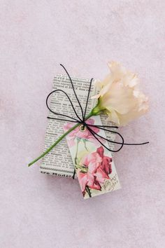 Vintage rose printable gift tags | Papermash