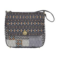 Allie City Shoulder - New for Spring 2015, the City Shoulder Bag has a large main compartment perfectly sized for a tablet, planner, or water bottle, and the external turn-lock pocket adds added security for smaller items such as cellphones, passport and keys. Pulling from tribal trends, the Allie Patchwork program features patches of Slate Navy, Desert Clay, Clear Blue and Whisper White. The inside has 2 slip and 1 zip pocket, the outside has 1 slip pocket with a flap and turn-lock closure…
