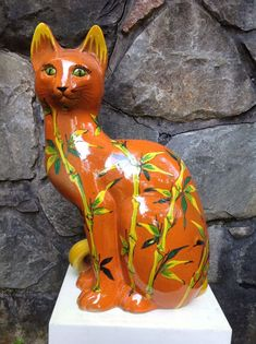 "Large 24"" VINTAGE Italian POTTERY Cat Sculpture FRATELLI FANCIULACCI Italy 1960s | eBay"
