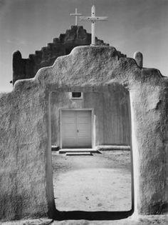 Church, Taos Pueblo, New Mexico, 1942