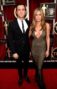 Jennifer Aniston in Galliano & Justin Theroux