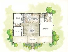 Small House Plans | Courtyard Ranch Houses - House Plans – Home ...