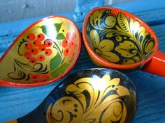 Russian Folk Spoons by BlendedSplendid on Etsy
