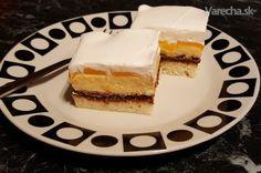 Grófkine rezy s broskyňami (fotorecept) - Recept Cheesecake, Treats, Sweet, Recipes, Food, Sweet Like Candy, Candy, Goodies, Cheesecakes