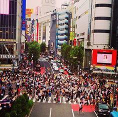 El impresionante cruce de Shibuya.
