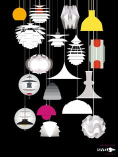 Danish design lighting poster