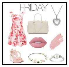 """Friday"" by tuicat14 ❤ liked on Polyvore featuring Forever New, Alexander McQueen, Yves Saint Laurent, Ice, Lime Crime and Jane Iredale"