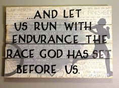 Painted Wood Sign for a Marathon Runner by KLKDesignsLLC on Etsy, $190.00